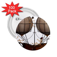Steampunk Flyer 2 25  Buttons (100 Pack)