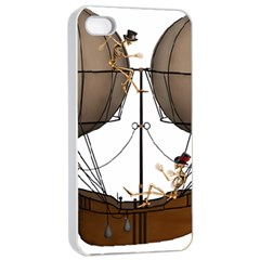 Steampunk Flyer Apple Iphone 4/4s Seamless Case (white)