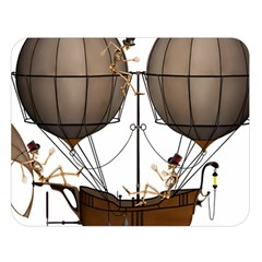 Steampunk Flyer Double Sided Flano Blanket (large)