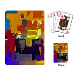Abstract Vibrant Colour Playing Cards Single Design by Sapixe