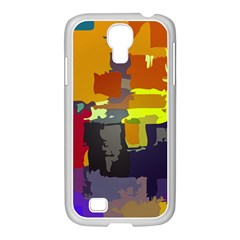 Abstract Vibrant Colour Samsung Galaxy S4 I9500/ I9505 Case (white) by Sapixe