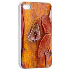 Bark Tree Texture Wood Trunk Apple Iphone 4/4s Seamless Case (white)