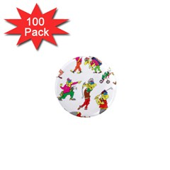 Golfers Athletes The Form Of 1  Mini Magnets (100 Pack)