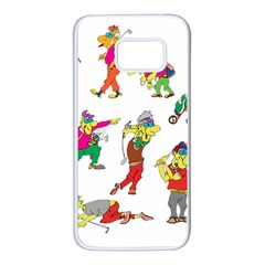 Golfers Athletes The Form Of Samsung Galaxy S7 White Seamless Case