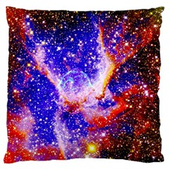 Galaxy Nebula Stars Space Universe Large Flano Cushion Case (one Side)
