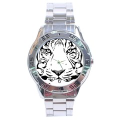 Tiger Black Ans White Stainless Steel Analogue Watch by alllovelyideas