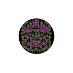 Black Lotus Night In Climbing Beautiful Leaves Golf Ball Marker (10 Pack) by pepitasart