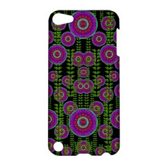 Black Lotus Night In Climbing Beautiful Leaves Apple Ipod Touch 5 Hardshell Case by pepitasart