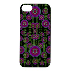 Black Lotus Night In Climbing Beautiful Leaves Apple Iphone 5s/ Se Hardshell Case by pepitasart