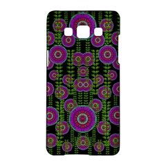 Black Lotus Night In Climbing Beautiful Leaves Samsung Galaxy A5 Hardshell Case