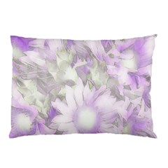 Romantic Pastel Floral,lilac Pillow Case by MoreColorsinLife