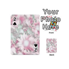 Romantic Pastel Floral,pink Playing Cards 54 (mini)
