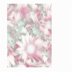 Romantic Pastel Floral,pink Large Garden Flag (two Sides) by MoreColorsinLife