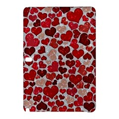 Sparkling Hearts, Red Samsung Galaxy Tab Pro 12 2 Hardshell Case by MoreColorsinLife