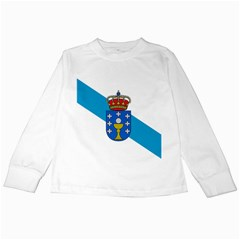 Flag Of Galicia Kids Long Sleeve T Shirts