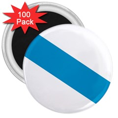 Civil Flag Of Galicia 3  Magnets (100 Pack) by abbeyz71