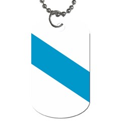 Civil Flag Of Galicia Dog Tag (one Side) by abbeyz71