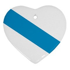 Civil Flag Of Galicia Heart Ornament (two Sides) by abbeyz71