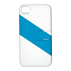 Civil Flag Of Galicia Apple Iphone 4/4s Hardshell Case With Stand