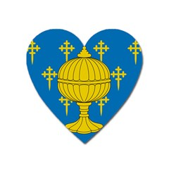 Flag Of Kingdom Of Galicia, 16th Century Heart Magnet by abbeyz71