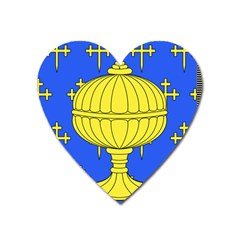 Banner Of Arms Of Kingdom Of Galice After Doetecum Heart Magnet by abbeyz71