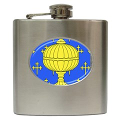 Banner Of Arms Of Kingdom Of Galice After Doetecum Hip Flask (6 Oz) by abbeyz71