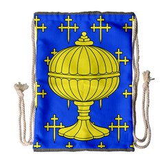 Banner Of Arms Of Kingdom Of Galice After Doetecum Drawstring Bag (large) by abbeyz71