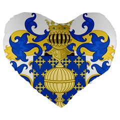 Coat Of Arms Of Kingdom Of Galicia, 16th Century Large 19  Premium Heart Shape Cushions by abbeyz71