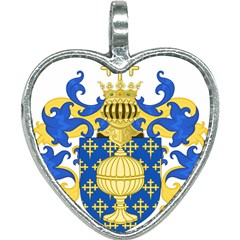 Coat Of Arms Of Kingdom Of Galicia, 16th Century Heart Necklace by abbeyz71