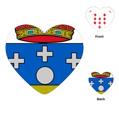 Coat Of Arms Of Galicia Playing Cards (heart) by abbeyz71