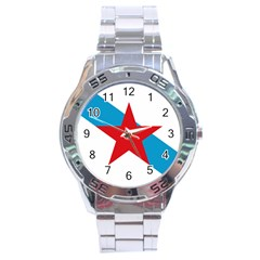 Estreleira Flag Stainless Steel Analogue Watch