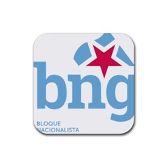 Galician Nationalist Bloc Logo Rubber Coaster (square)  by abbeyz71