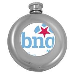 Galician Nationalist Bloc Logo Round Hip Flask (5 Oz) by abbeyz71