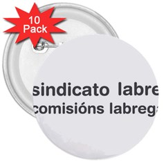 Sindicato Labrego Galego Comisi¨?ns Labregas Logo 3  Buttons (10 Pack)  by abbeyz71