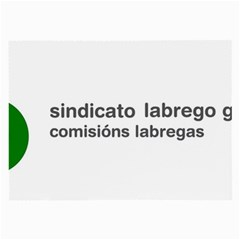 Sindicato Labrego Galego Comisi¨?ns Labregas Logo Large Glasses Cloth (2 Side) by abbeyz71