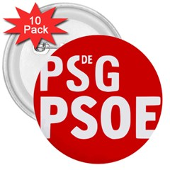 Socialists  Party Of Galicia Logo 3  Buttons (10 Pack)  by abbeyz71