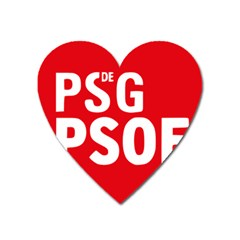 Socialists  Party Of Galicia Logo Heart Magnet by abbeyz71