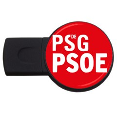 Socialists  Party Of Galicia Logo Usb Flash Drive Round (4 Gb)
