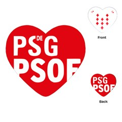 Socialists  Party Of Galicia Logo Playing Cards (heart) by abbeyz71