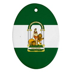 Flag Of Andalusia Ornament (oval)