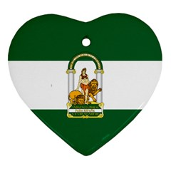 Flag Of Andalusia Ornament (heart)