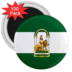 Flag Of Andalusia 3  Magnets (100 Pack)