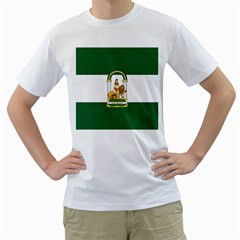 Flag Of Andalusia Men s T Shirt (white) (two Sided)