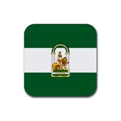 Flag Of Andalusia Rubber Square Coaster (4 Pack)  by abbeyz71