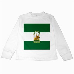 Flag Of Andalusia Kids Long Sleeve T Shirts