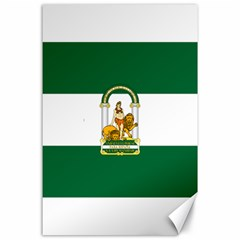 Flag Of Andalusia Canvas 24  X 36