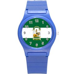Flag Of Andalusia Round Plastic Sport Watch (s) by abbeyz71