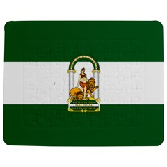 Flag Of Andalusia Jigsaw Puzzle Photo Stand (rectangular) by abbeyz71
