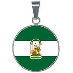 Flag Of Andalusia 25mm Round Necklace by abbeyz71