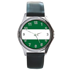 Flag Of Andalusia Round Metal Watch by abbeyz71